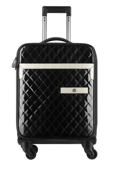 Trolley in pelle matelassé bicolor della linea di borse e viaggio di Chanel della Primavera Estate 2016