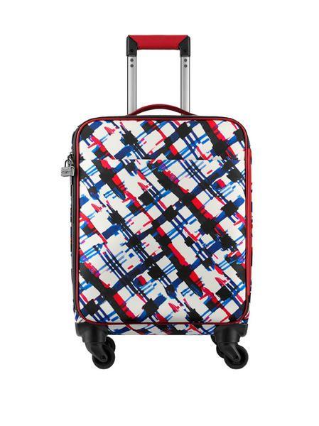 Trolley in pelle stampa tweed della linea di borse e viaggio di Chanel della Primavera Estate 2016