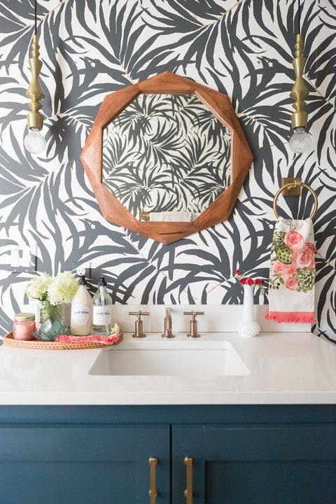 28 Bathroom Wallpaper Ideas Best, Wallpaper For Bathroom Walls