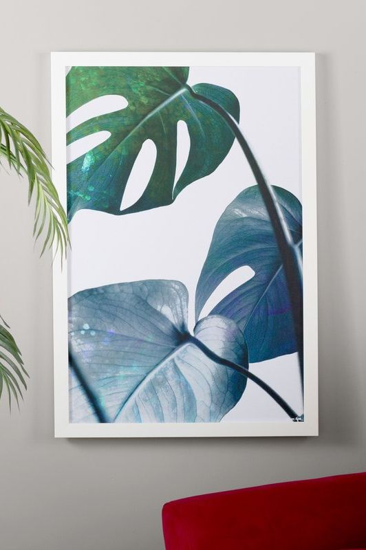 tropical decor monstera leaves