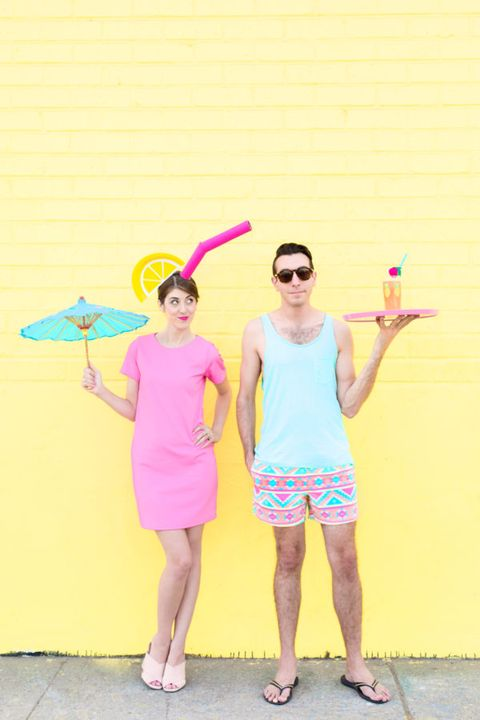 tropical drink couples costume