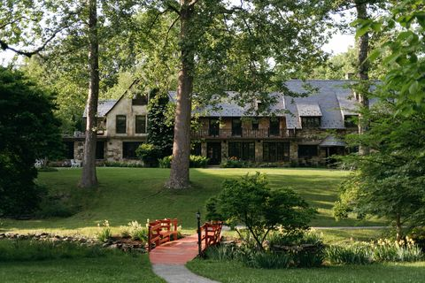 Estate, Property, Home, House, Natural landscape, Building, Tree, Real estate, Grass, Landscaping,