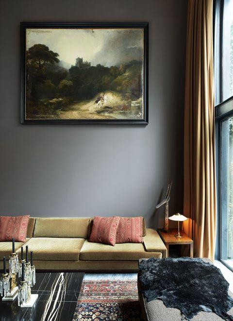 Fernando Santangelo olive living room