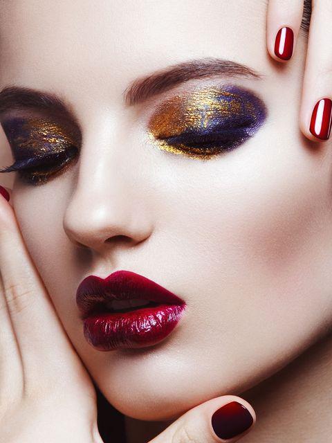Lip, Face, Beauty, Eyebrow, Red, Close-up, Skin, Nail, Eye, Eyelash,