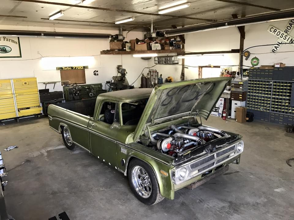 This Old Dodge Truck Is a Twin-Engine Diesel Burnout Machine