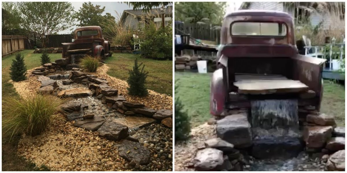 Pickup Truck Rental >> How to Make a DIY Truck Waterfall for Your Backyard