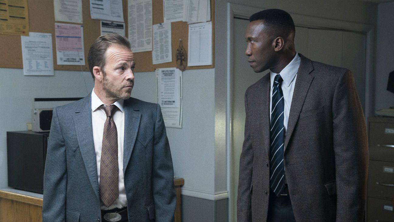 Stephen Dorff's Detective Roland West and Mahershala Ali's Detective Wayne Hays in the third season of HBO's True Detective .