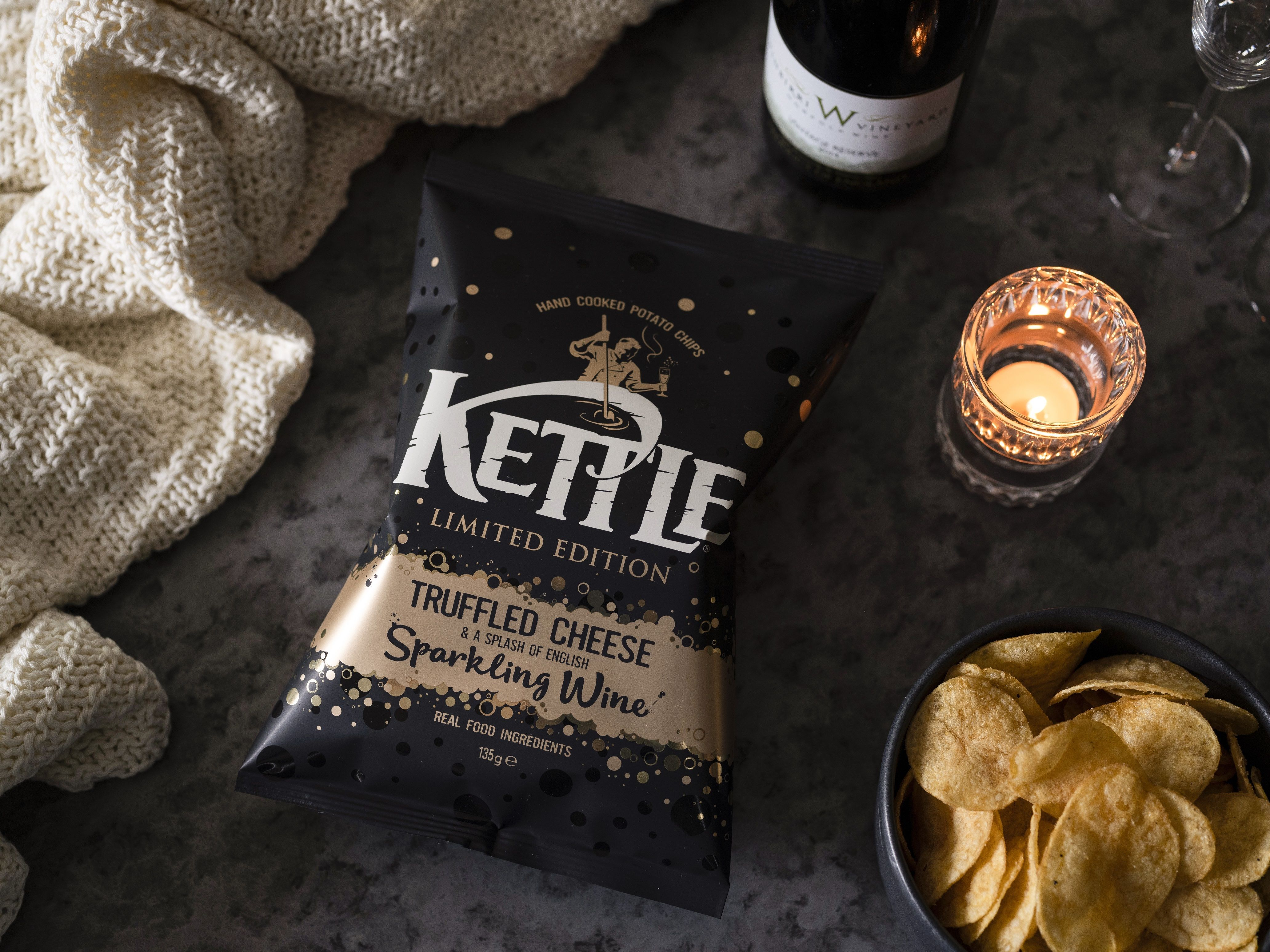Kettle Chips' New Cheese And Wine Flavour Crisp Is Boujee AF