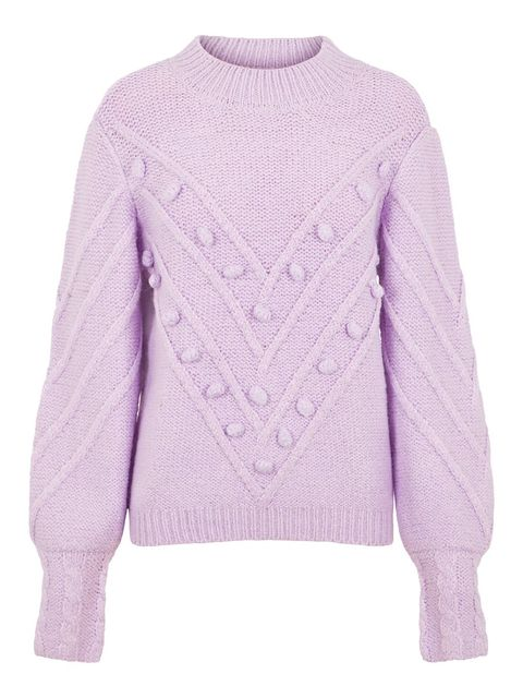 Clothing, Sweater, Violet, Sleeve, Outerwear, Purple, Lavender, Lilac, Pink, Wool,