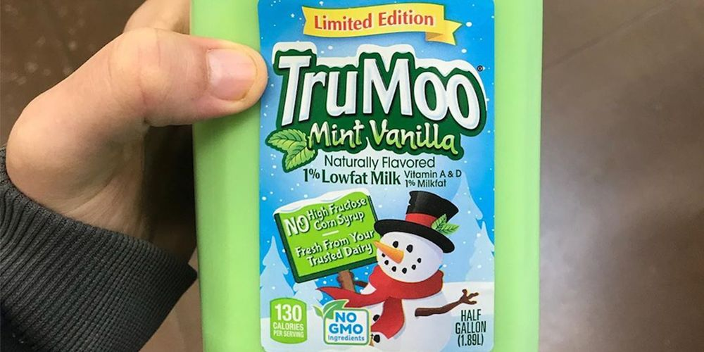 TruMoo's Limited-Edition Mint Vanilla Milk Is a Holiday Dream in a Cup