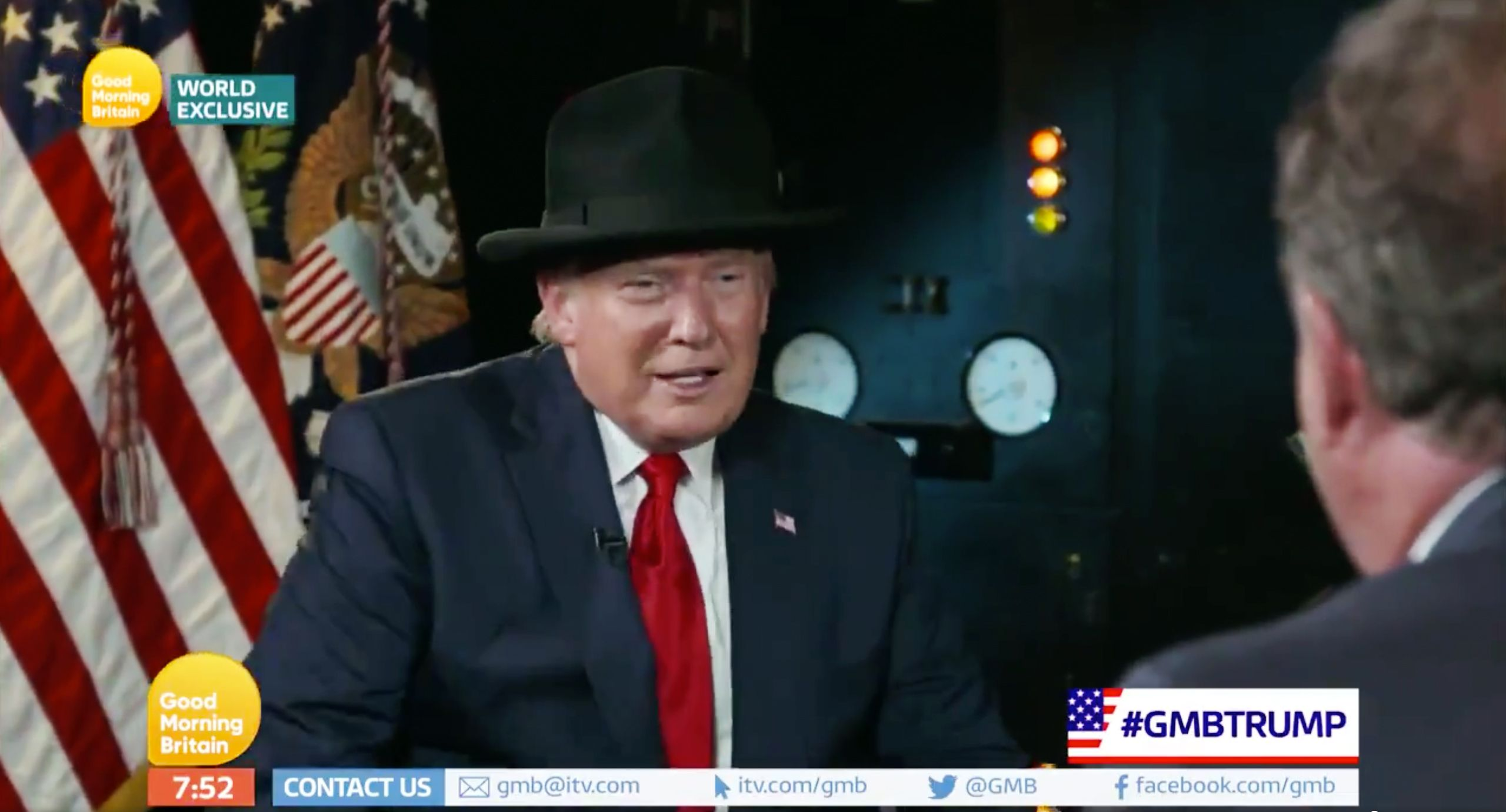 Donald Trump Receives Winston Church-Style Hat Gift From