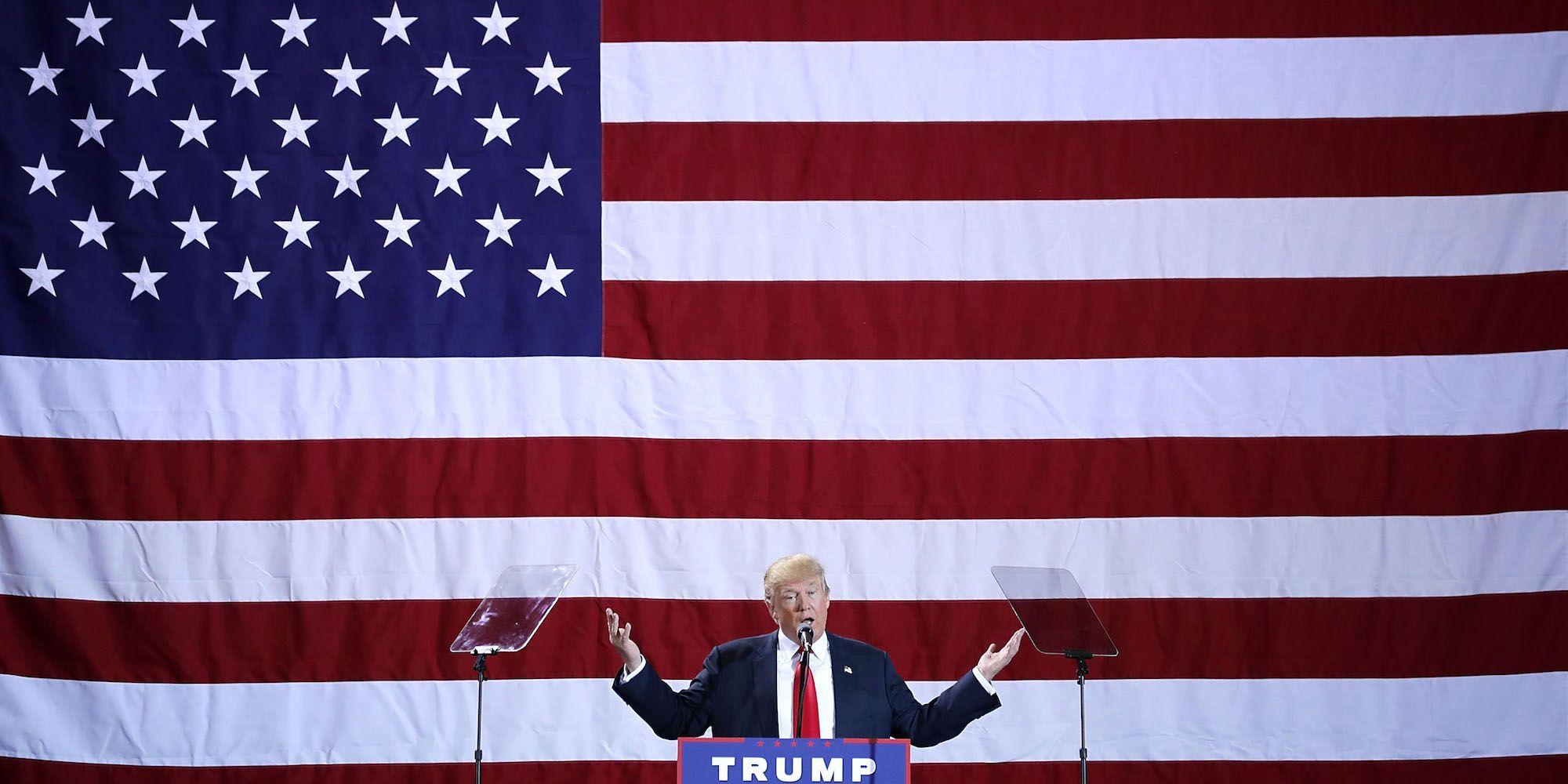 GOP Presidential Nominee Donald Trump Campaigns In Michigan