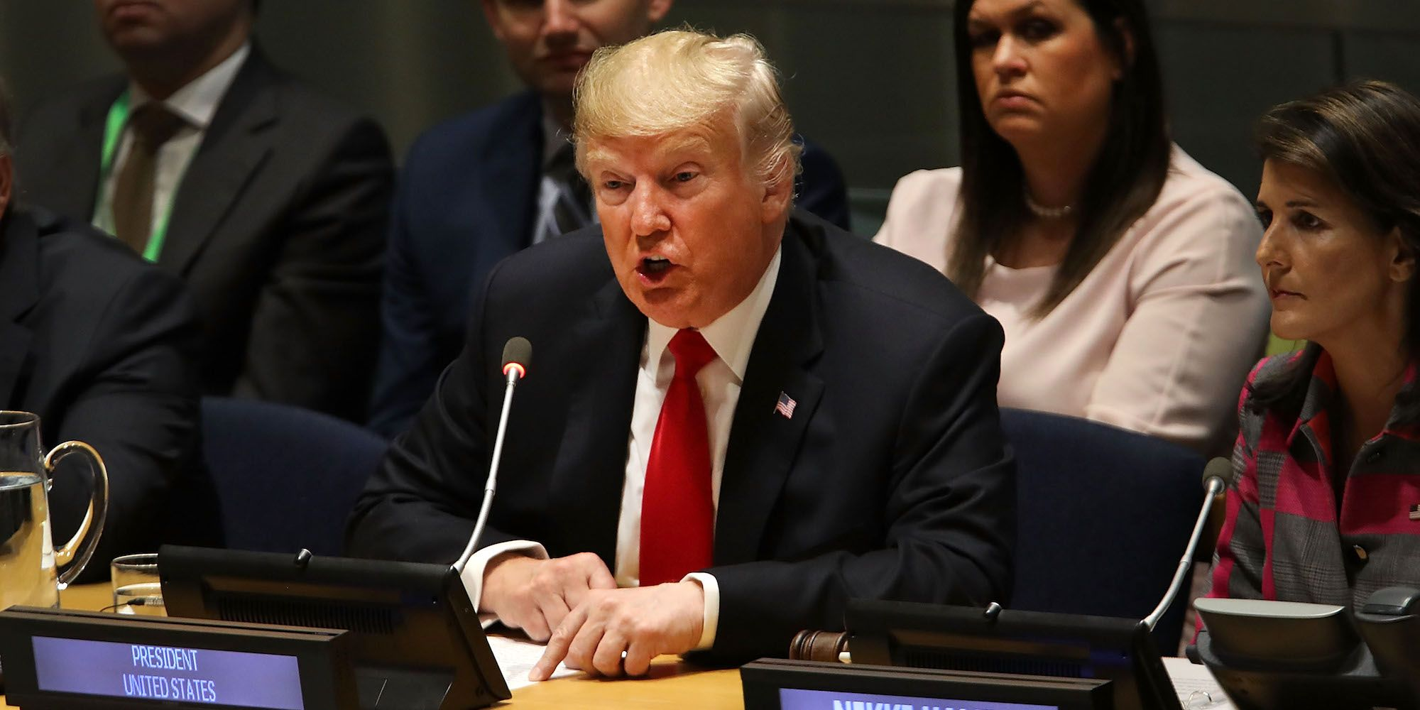President Trump Attends UN Meeting On Global Drug Problem