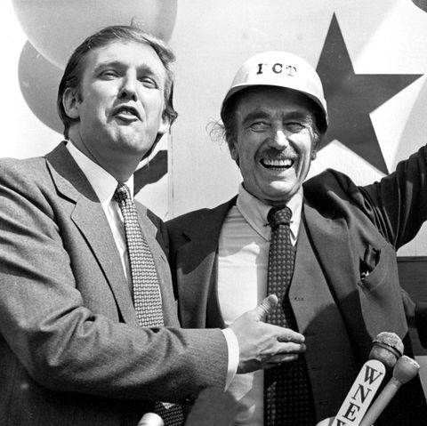 Donald Trump with Fred Trump and Mayor Ed Koch