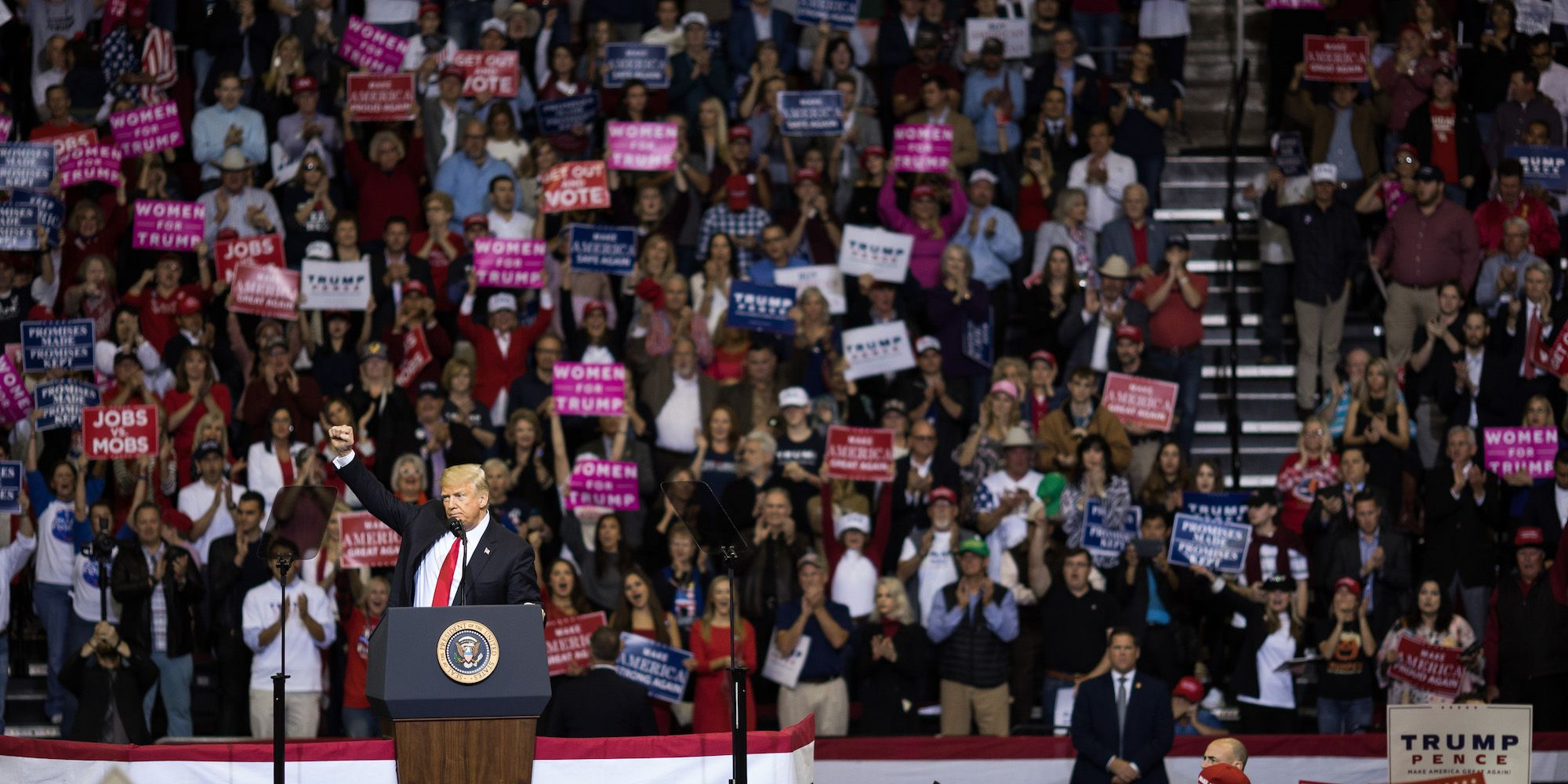 President Trump Holds Rally In Houston, Texas