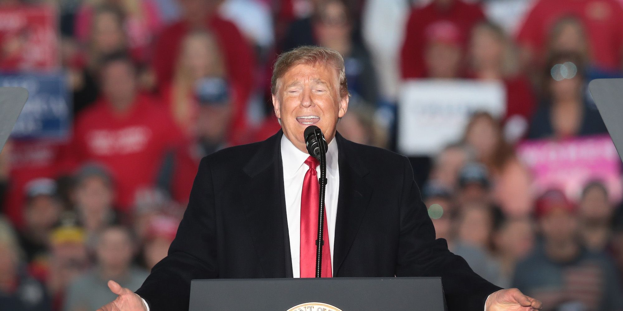 Donald Trump Holds MAGA Campaign Rally In Southern Illinois Ahead Of Midterm Elections