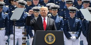 President Trump Delivers Remarks At US Air Force Academy Graduation Ceremony