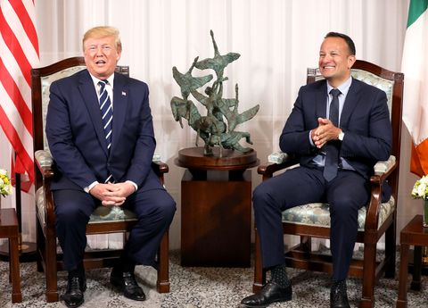 President Trump Arrives In Ireland Following UK State Visit
