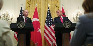 President of Turkey, Recep Tayyip Erdogan in Washington