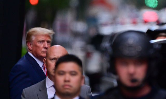 new york, new york   june 02 former us president donald trump leaves trump tower in manhattan on june 02, 2021 in new york city photo by james devaney gc images