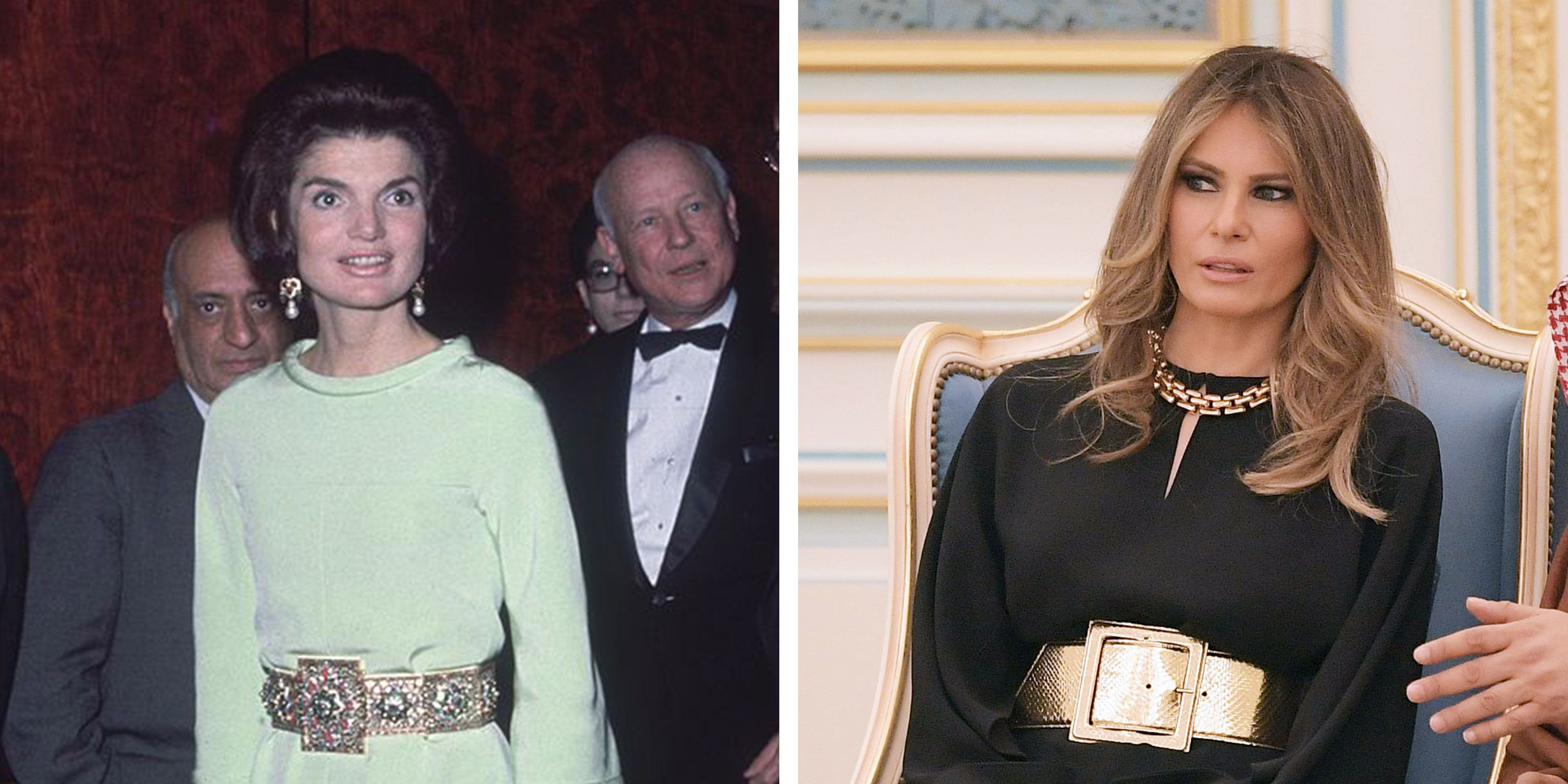 melania trump and jackie kennedy