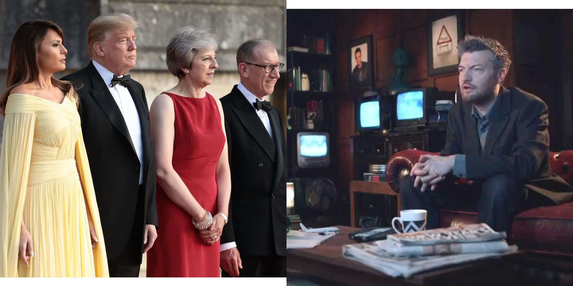 Donald Trump Charlie Brooker Theresa May