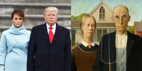 trump and melania american gothic