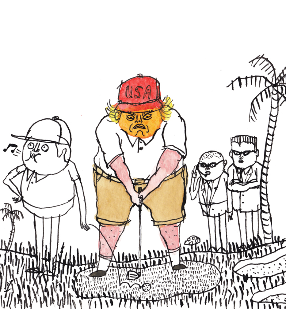 Donald Trump Never Cheats at Golf. His Caddy Does That for Him.