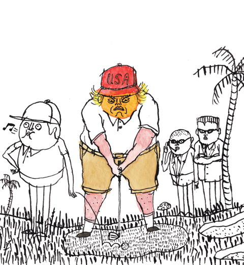 Donald Trump Cheating at Golf - Excerpt from Rick Reilly's
