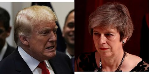 Trump Turned A Nice Catch-Up Call With Theresa May Into A Furious Foreign Policy Rant
