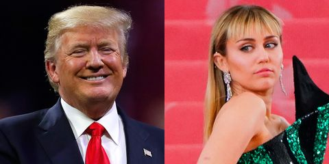 Miley Cyrus and Donald Trump