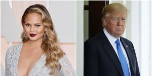 Donald Trump en Chrissy Teigen