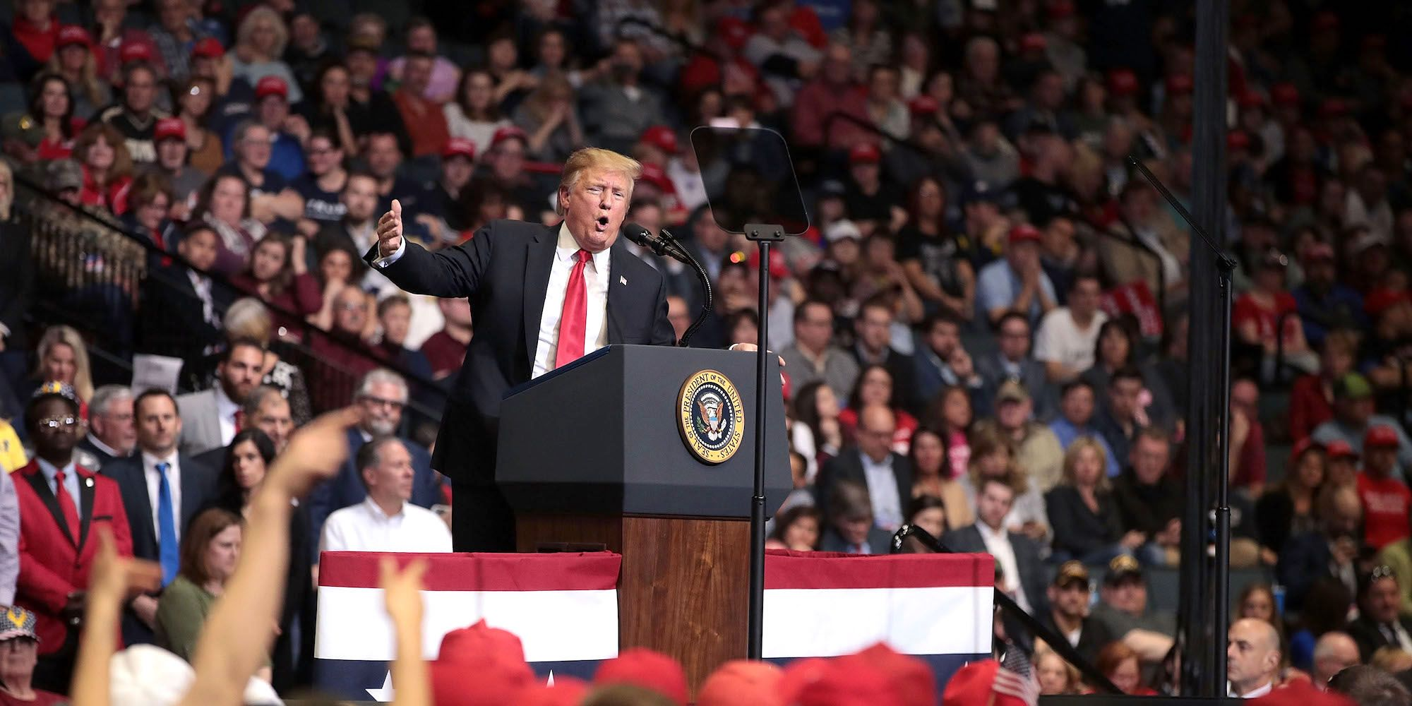 Donald Trump Holds MAGA Rally In Grand Rapids, Michigan