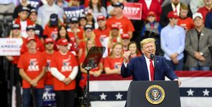 President Trump Holds Campaign Rally In Minneapolis