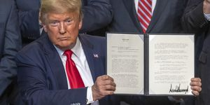 President Trump Signs Decision On California's Interior Watershed