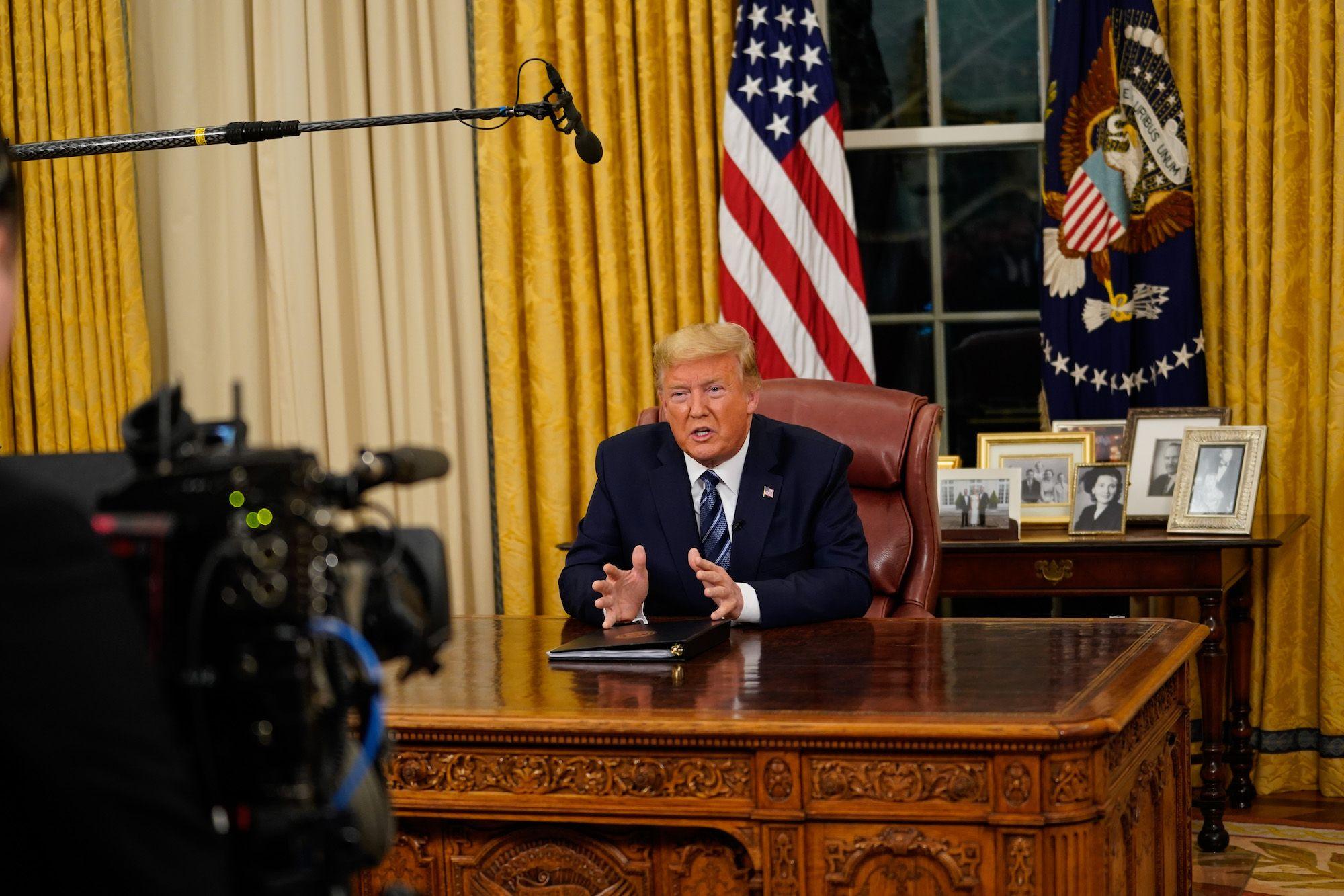 Trump's Coronavirus Speech Was a Cry for Help