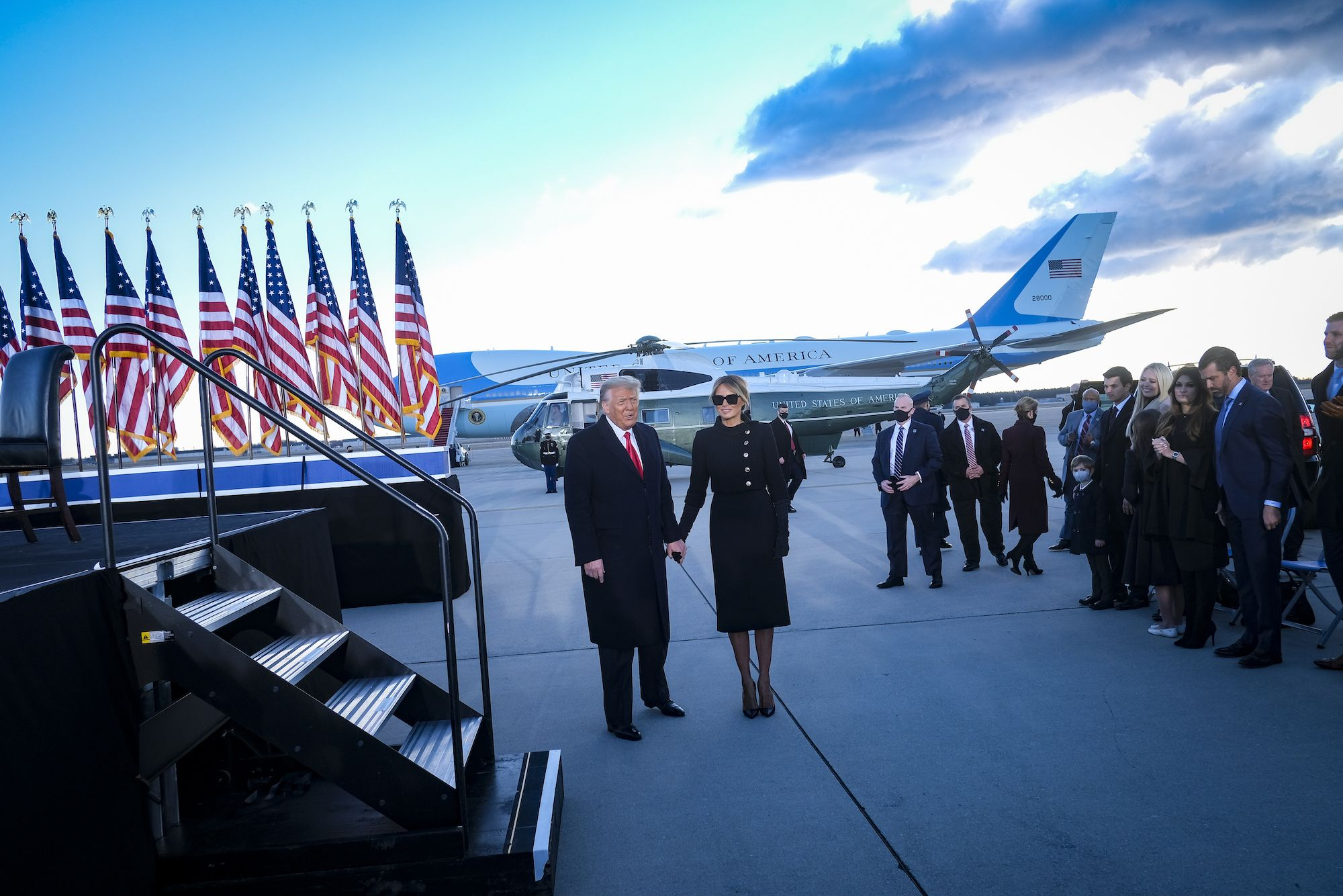 Donald Trump's Departure Was a Perfect Visual for His Entire Life