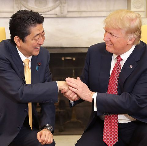 President Trump Holds Bilateral Meeting With Japanese PM Shinzo Abe