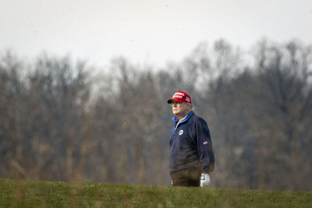 sterling, va   december 13 us president donald trump golfs at trump national golf club on december 13, 2020 in sterling, virginia photo by al dragogetty images