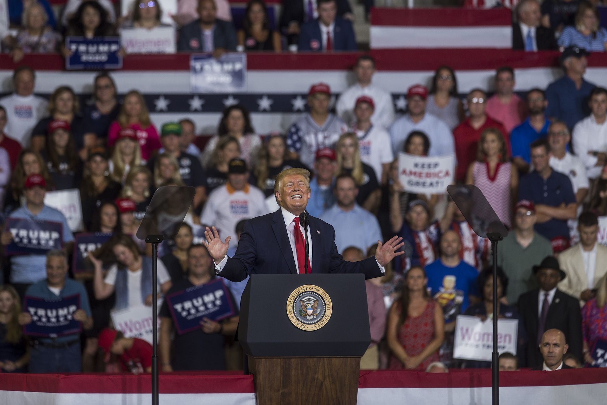 Trump's Evangelical Fans Got Upset at His 'Send Her Back' Rally, But Not at the 'Send Her Back' Part