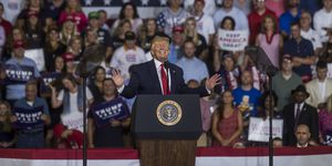"Donald Trump Holds ""Keep America Great"" Rally In Greenville, NC"
