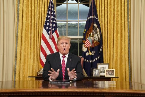 Image result for trump oval office speech