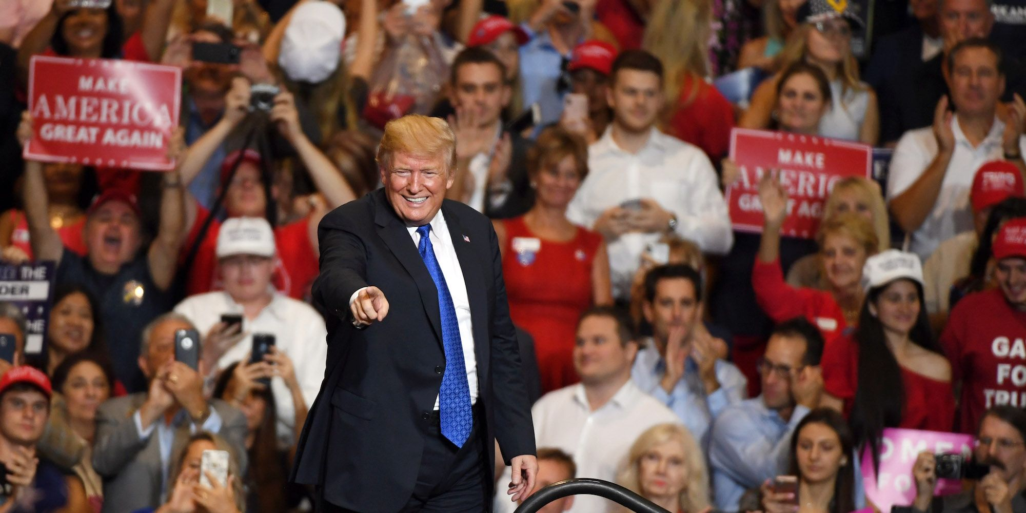 President Trump Holds MAGA Rally In Las Vegas