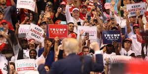 "Donald Trump Holds A ""Welcome Home"" Rally In South Florida"