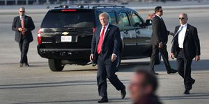 President Trump Arrives In West Palm Beach For Easter Weekend At Mar-a-Lago
