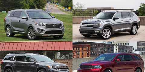 Mid-Size Crossovers and SUVs, Ranked by Cargo Capacity