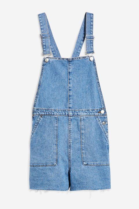 Denim, Clothing, Blue, Overall, One-piece garment, Jeans, Pocket, Textile, Dress, Suspenders,