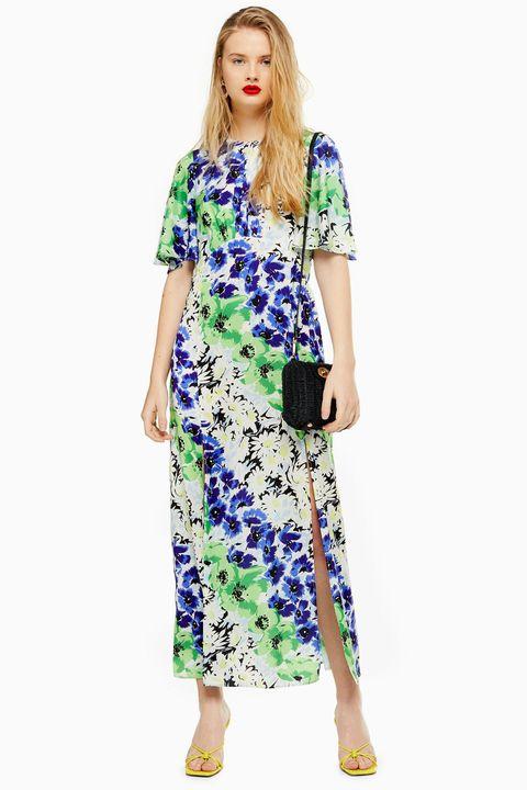 Topshop midi dress austin print