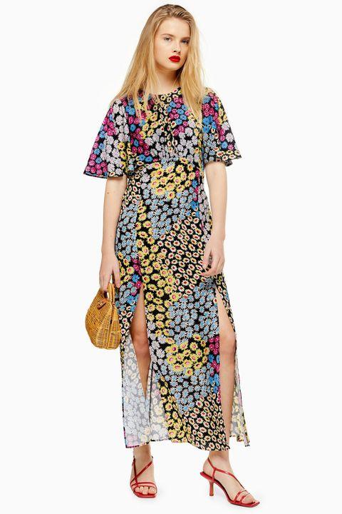 Topshop austin dress floral print midi