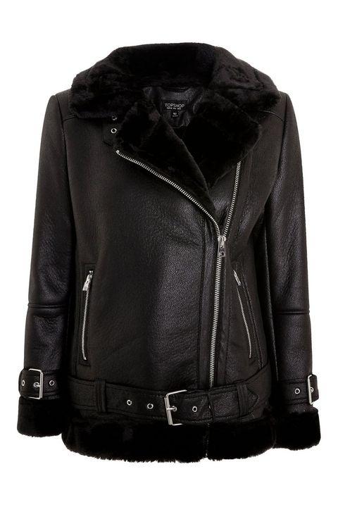 Topshop Faux Shearling Biker Jacket £79.00